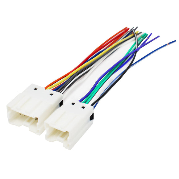 Compatible Radio Wiring Harness for Select 1990-2005 Nissan/Infiniti Vehicles