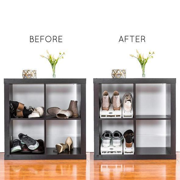 Double Deck Adjustable Space Saving Shoes Hanger