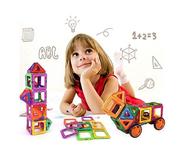 Hot Sale!!!Magnetic Building Blocks Magnet Tiles Toy Set Kit 3D Educational Learning Recreational Creativity Toys