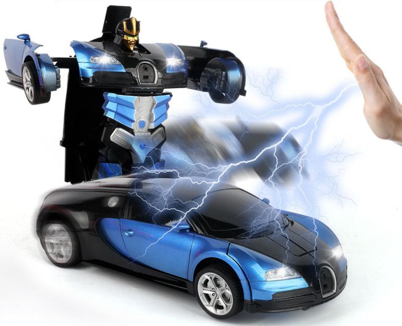2.4G Induction Deformation RC Cars Transformation Robot Car Toys for Children Gifts
