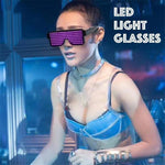 The 2018 New Holiday Multi-function Bluetooth LED Light Glasses Programmable Rechargeable