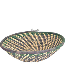 Load image into Gallery viewer, Hand-woven African Basket/Wall art-XLARGE-Black Green Natural line