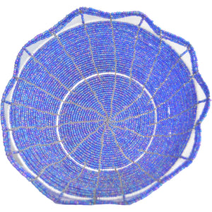 Maasai Bead basket, Large (Blue)