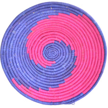 Load image into Gallery viewer, Hand-woven African Basket/Wall art -LARGE-Blue Pink