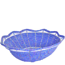 Load image into Gallery viewer, Maasai Bead basket, Large (Blue)