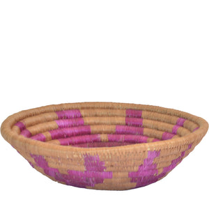 Hand-woven African Basket/Wall art -MEDIUM-Brown Maroon