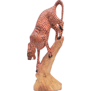 Cheetah carving