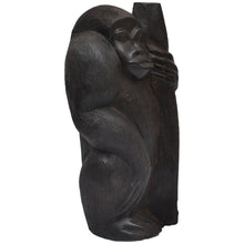 Load image into Gallery viewer, Gorilla carving (Ebony wood)