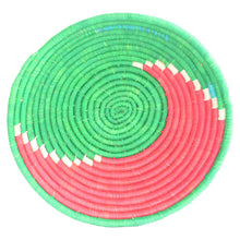 Load image into Gallery viewer, Hand-woven African Basket/Wall art -LARGE-Green Red
