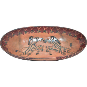 Medium Rosewood oval bowl (Zebra)