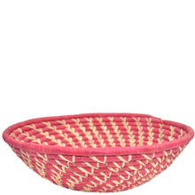 Load image into Gallery viewer, Hand-woven Fairtrade Basket/Wall art-LARGE-Red Natural spiral