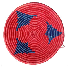 Load image into Gallery viewer, Hand-woven African Basket/Wall art-30CM-Blue Red