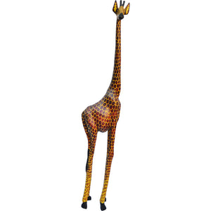 Hand carved XLarge Giraffe Statue-Hard Wood-Fairtrade-Kenya