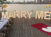 """Marry Me"" Marquee Letters"