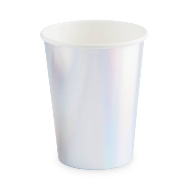 Iridescent cups set of 8