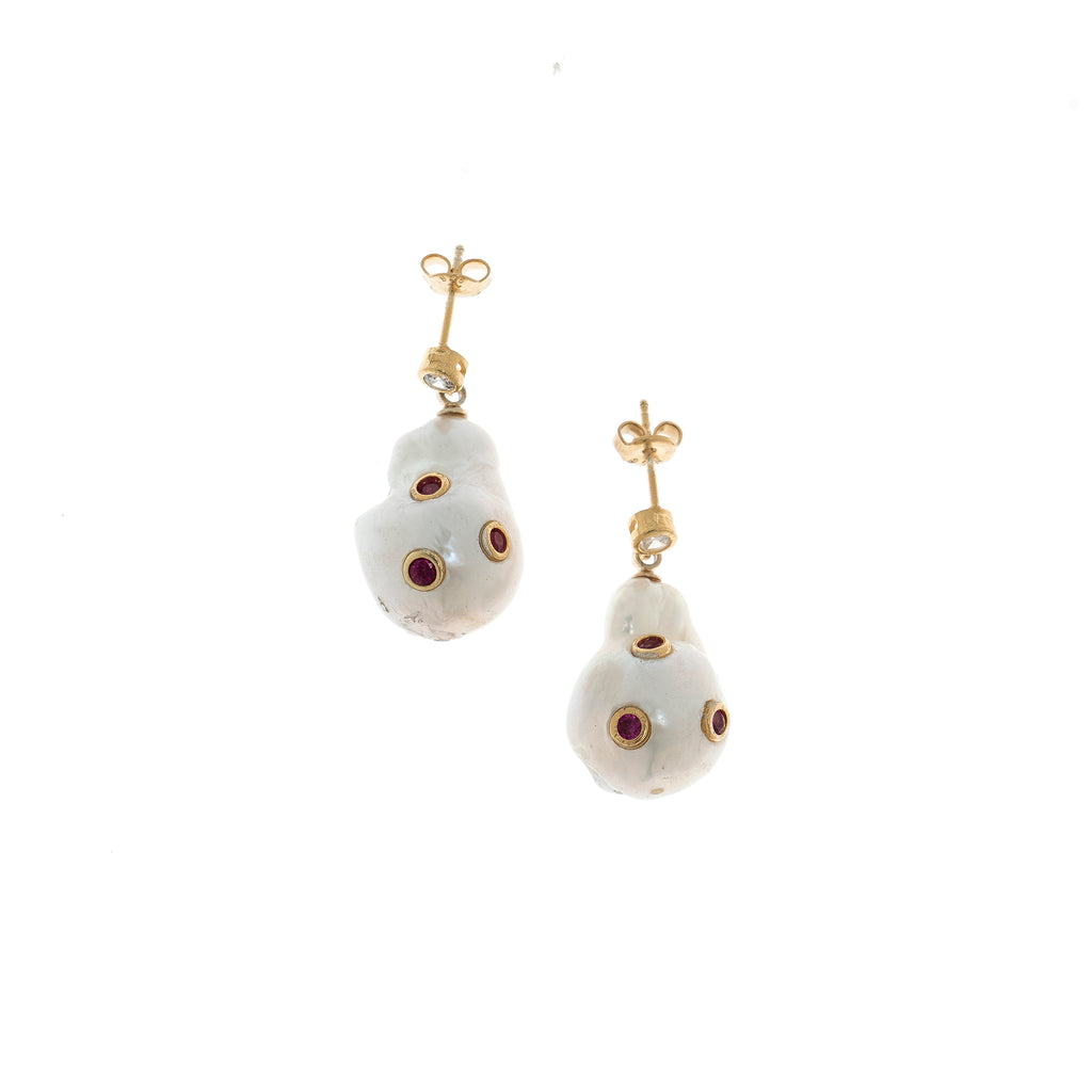 Gold Plated, Pearl Earrings