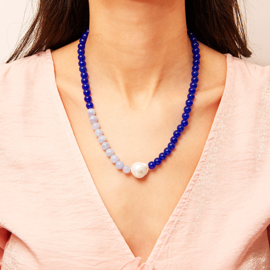 Cecy Gem Stone Necklace