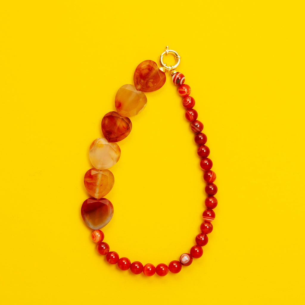 Agate Heart Shaped Necklace