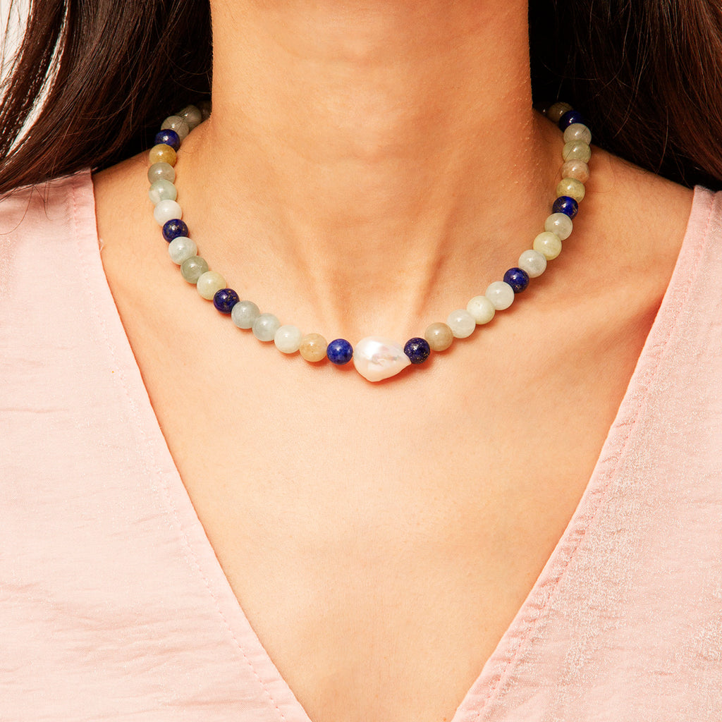 Dubai Gem Stone Necklace