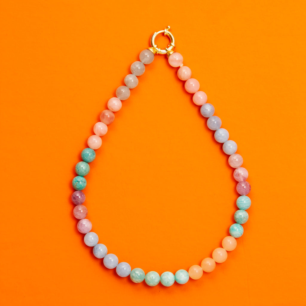 Candy Gem Stone Necklace