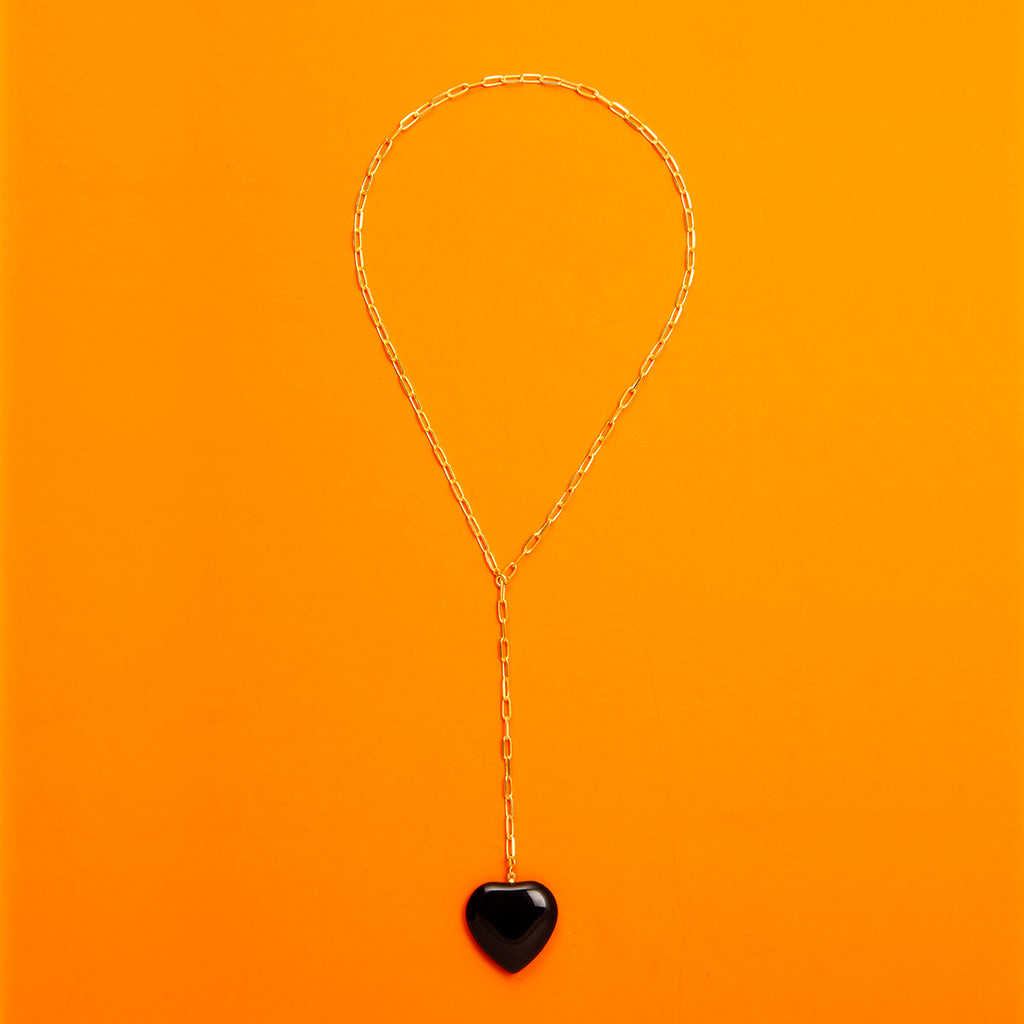 Onyx Heart Shaped Necklace