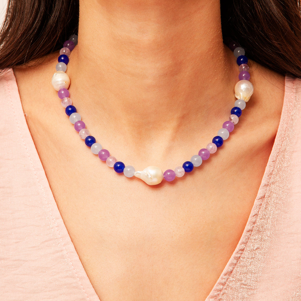 Valentina Gem Stone Necklace