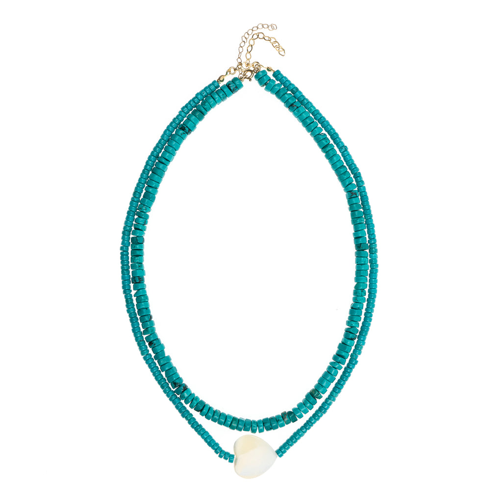 Alyssa Double Turquoise Necklace