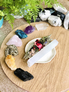 7 Chakra Raw Crystal Healing Set - Sentient Creations