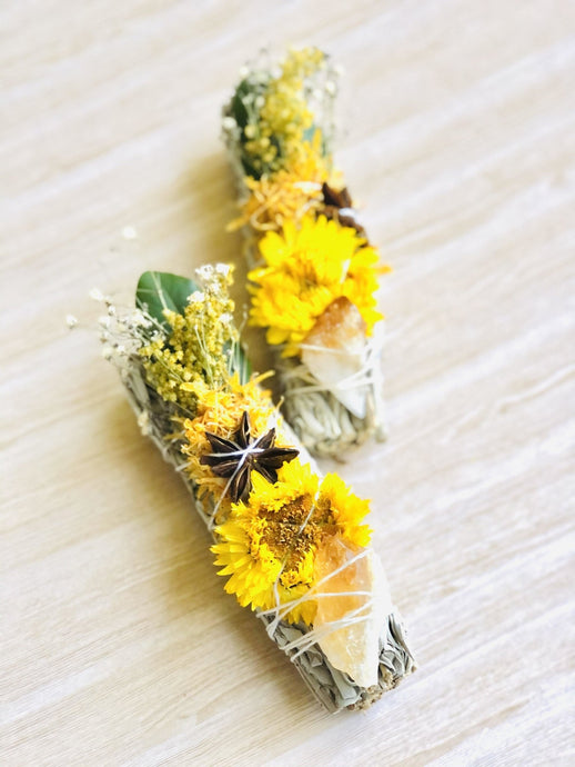 Abundance Large Smudge Stick Bouquet - Sentient Creations