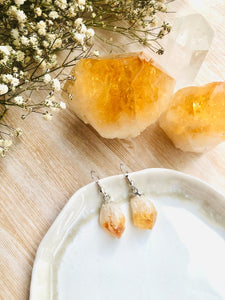 Citrine Point Earrings - Sentient Creations