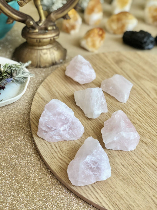 Raw Rose Quartz - Sentient Creations