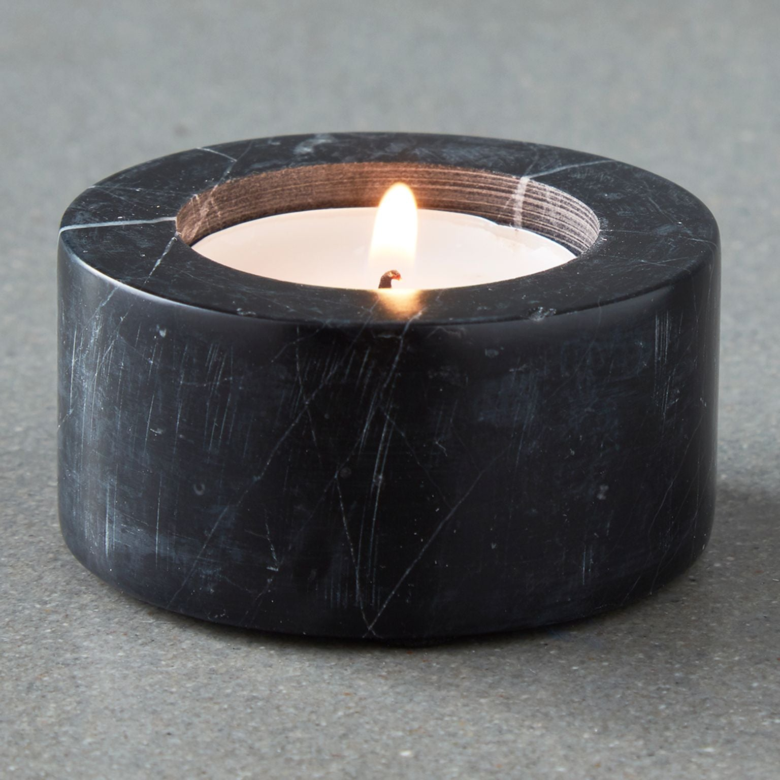 Black Marble Tealight Holder