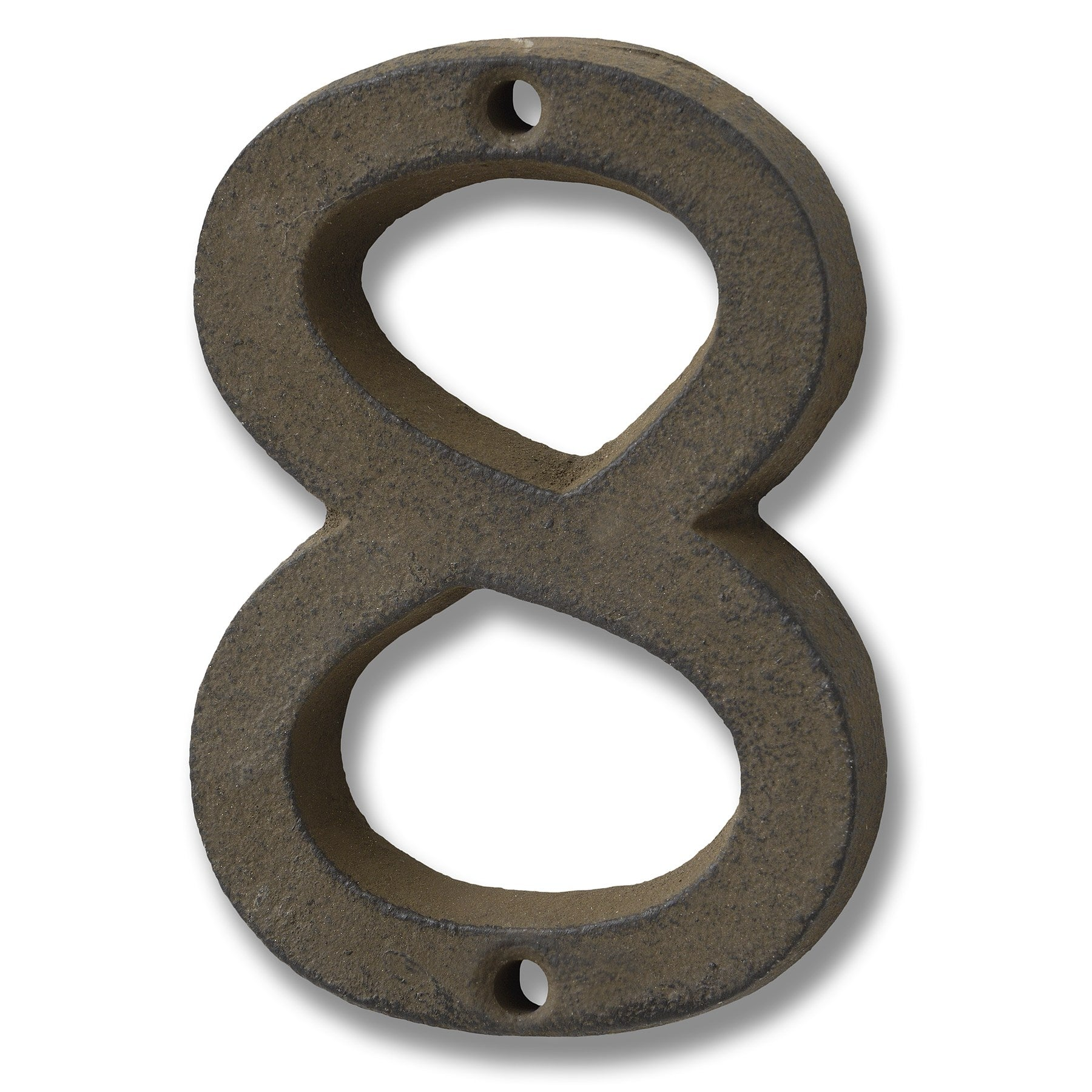 Rustic Brown Cast Iron Number '8'