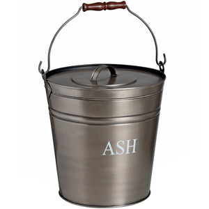 Antique Pewter Ash Bucket