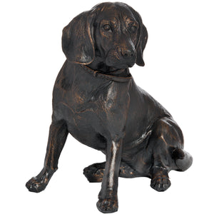 Sitting Spaniel In Antique Bronze