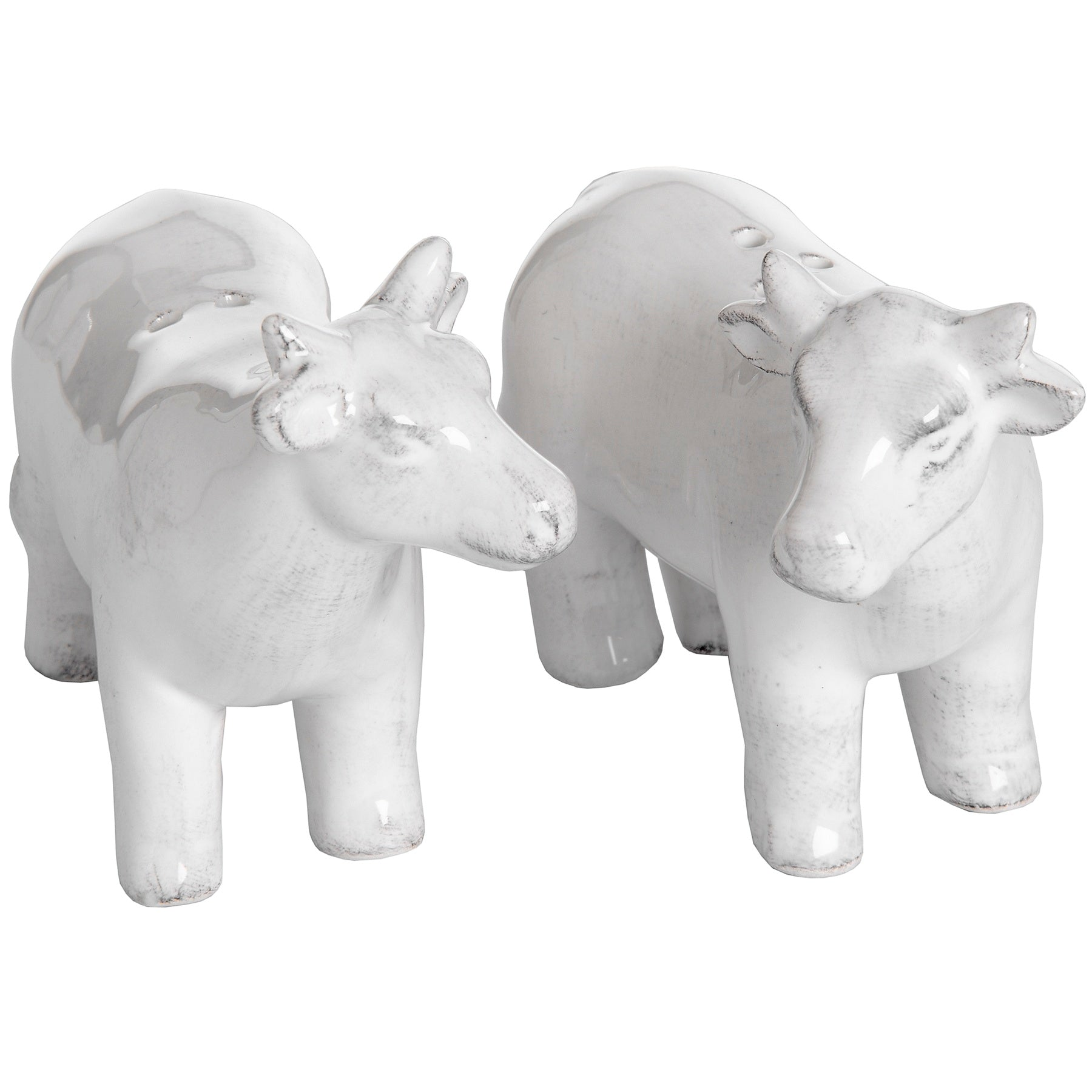 Set of Two Salt and Pepper Cows