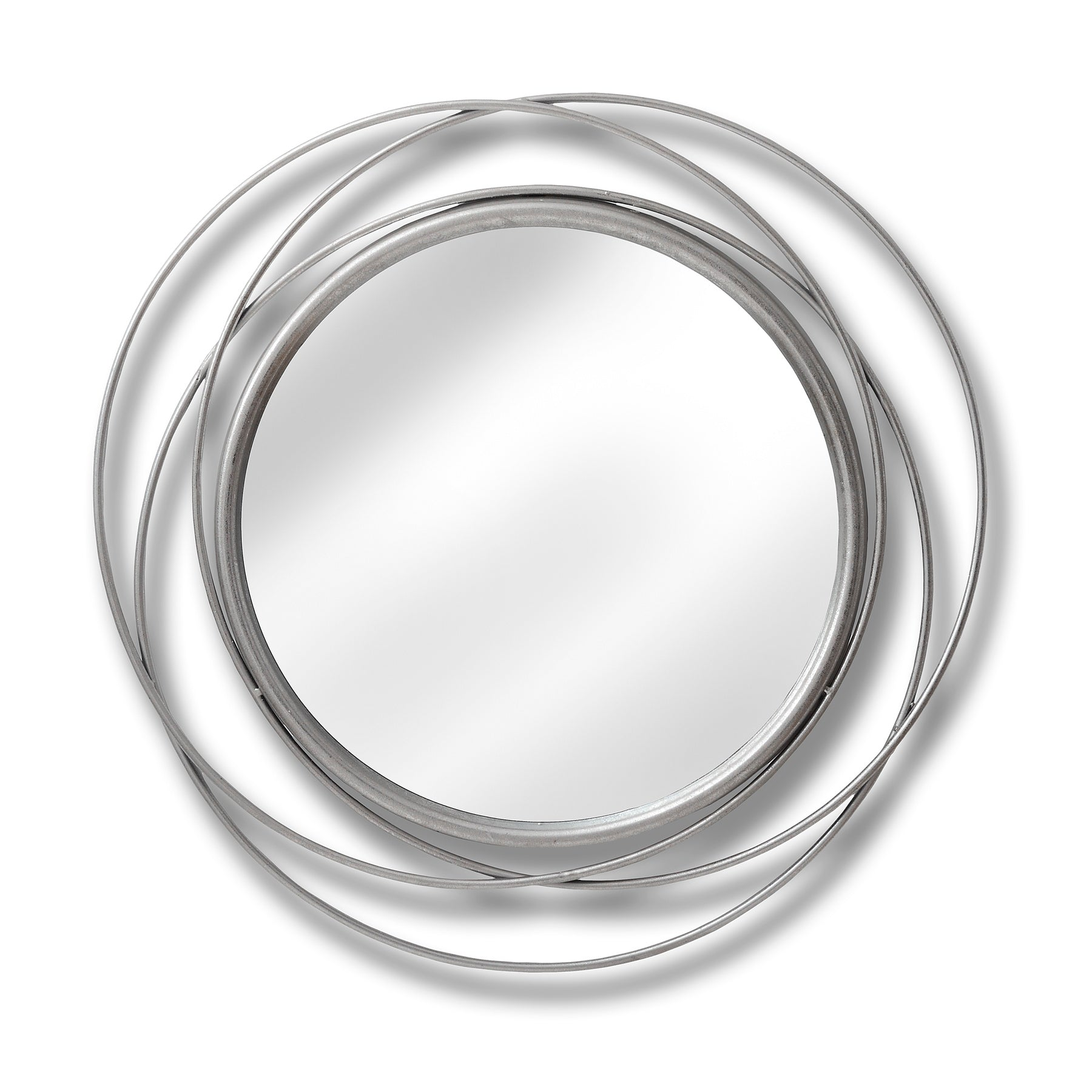 Silver Circled Wall Art Mirror