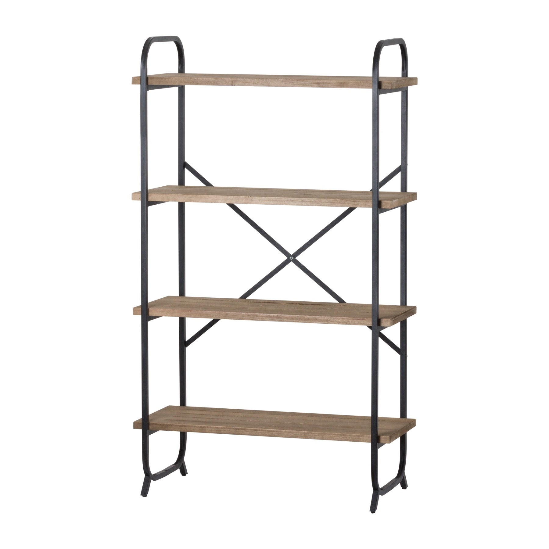 Four Tier Shelf Cross Section Industrial Display Unit