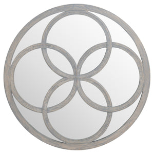 Flower of Life Grey Painted Mirror