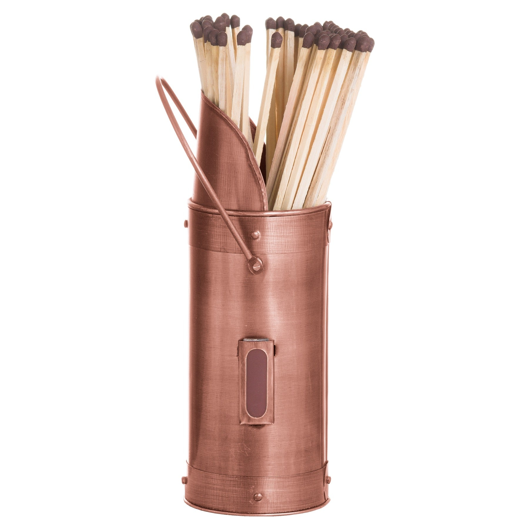 Copper Match Holder With 60 Matches