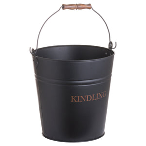 Black Kindling Bucket