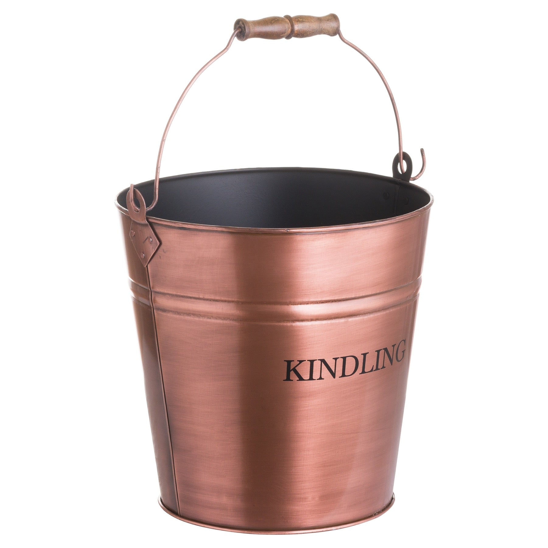Copper Finish Kindling Bucket