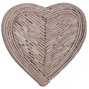 40cm Small Heart Wicker Wall Art