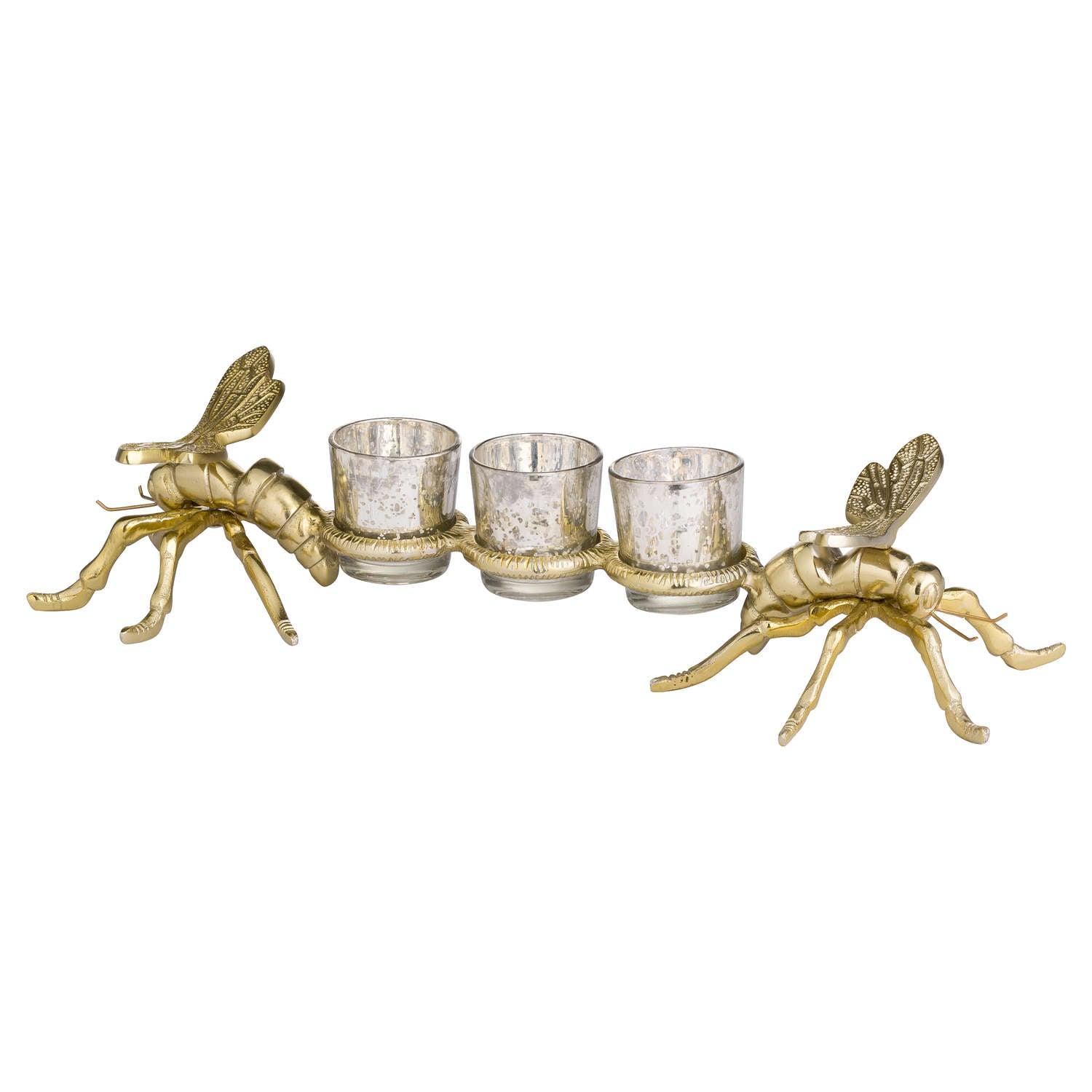 Brass Large Dragonfly Tealight Holders