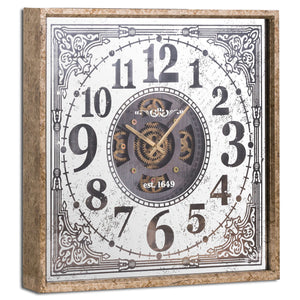Mirrored Moving Mechanism Wall Clock
