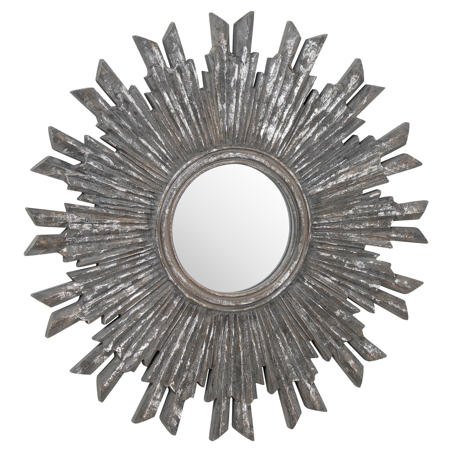 Circular Antique Matalic Burst Mirror