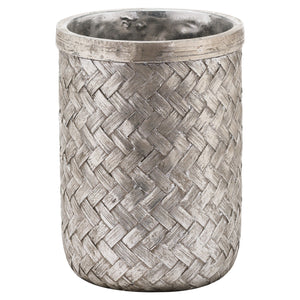 Aspen Woven Effect Medium Vase