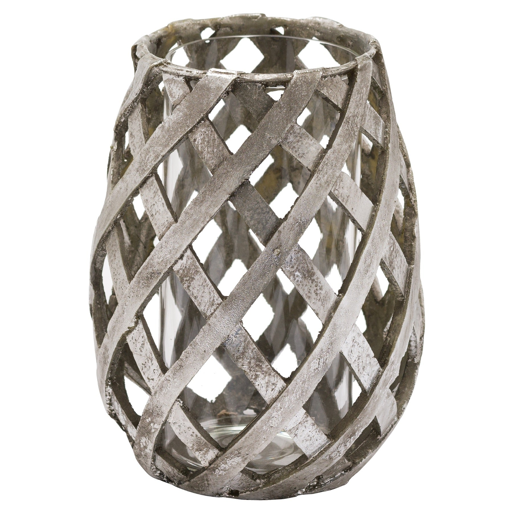 Aspen Lattice Large Candle Lantern