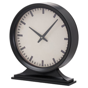 Simple Black Mantel Clock