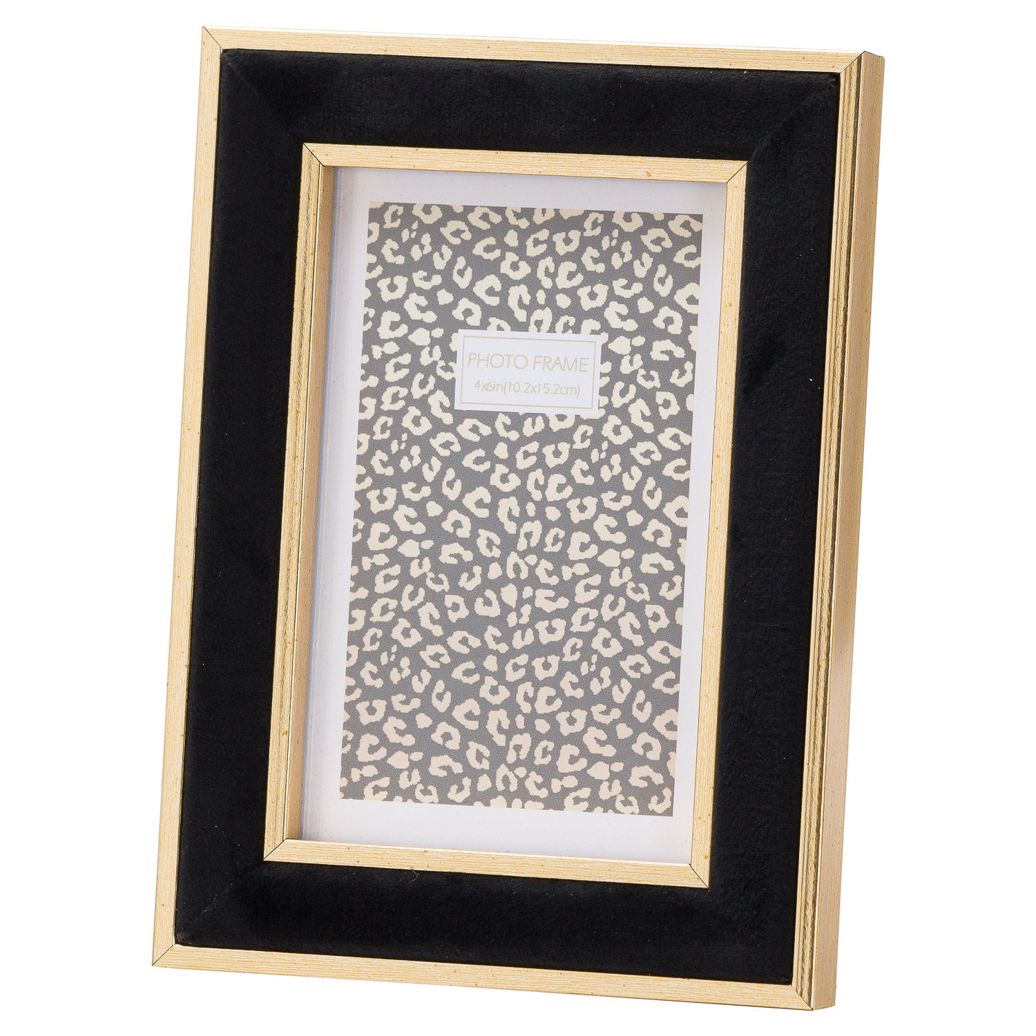 Black Velvet With Gold 4X6 Frame